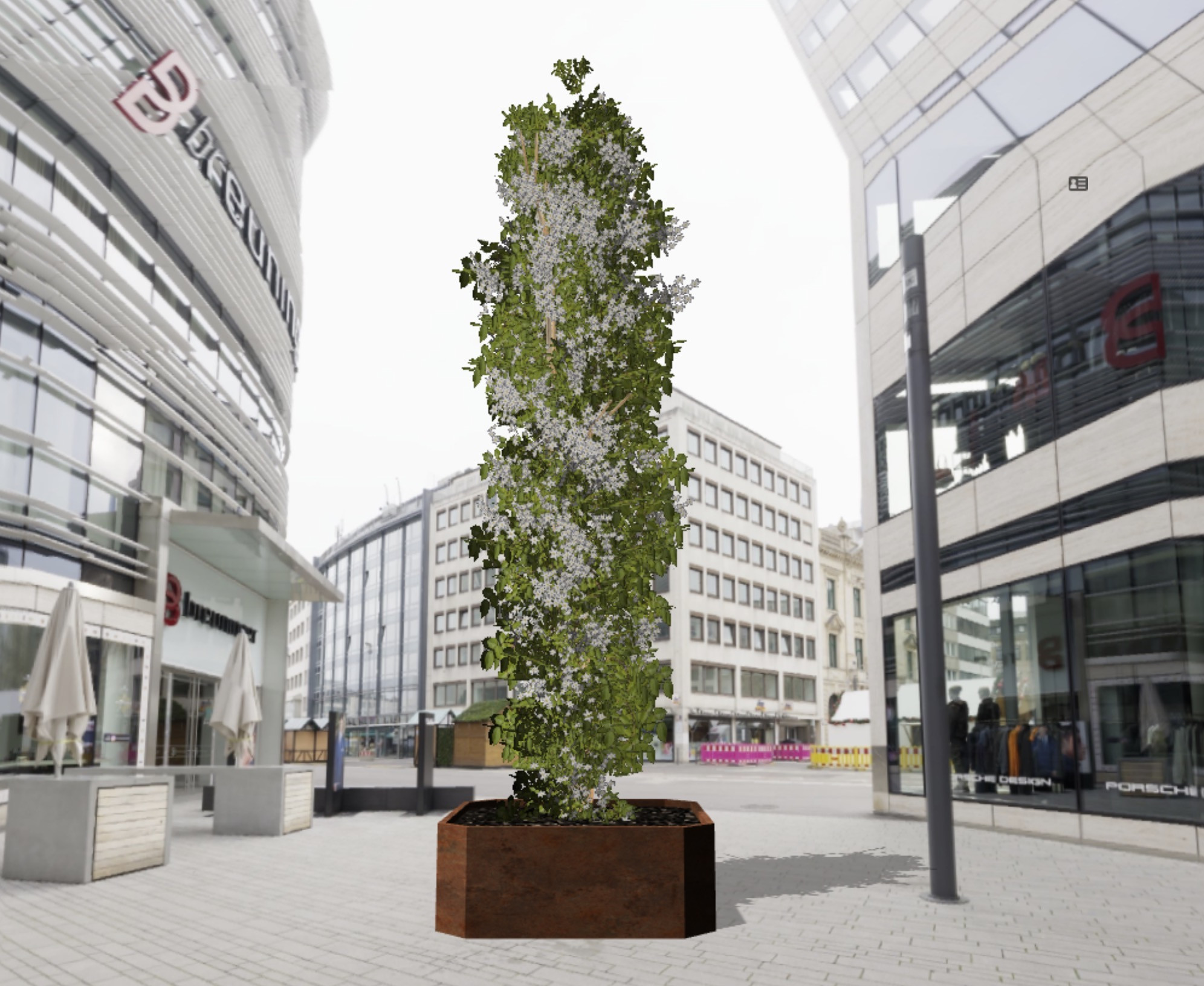 Een Urban Tree op de testlocatie in Asten